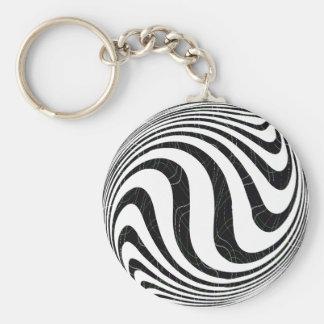 Zebraic Basic Round Button Keychain