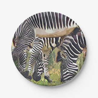 ZEBRAS 7 INCH PAPER PLATE