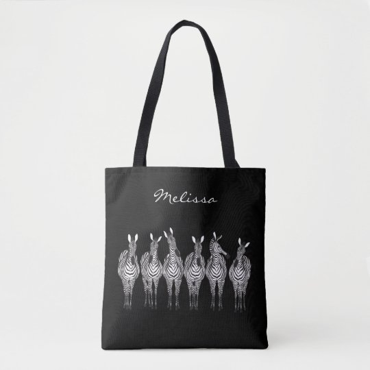 Zebras All-Over-Print Tote Bag