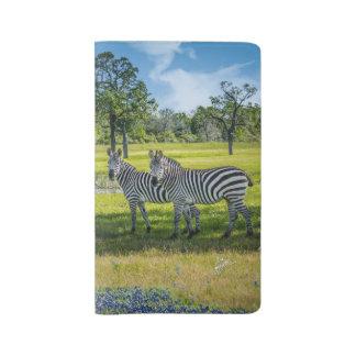 Zebras and Bluebonnets Large Moleskine Notebook