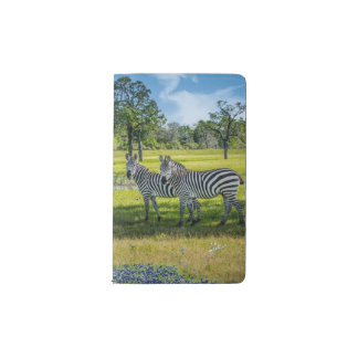 Zebras and Bluebonnets Pocket Moleskine Notebook