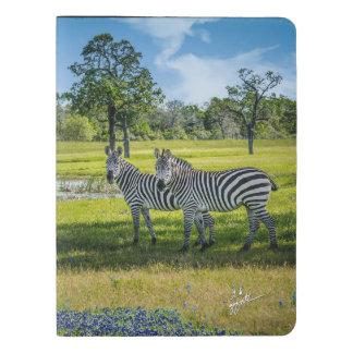Zebras and Bluebonnets X-Large Moleskine Notebook