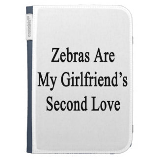 Zebras Are My Girlfriend's Second Love Kindle Keyboard Covers