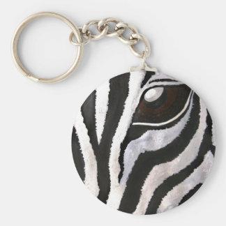 Zebra's Eye (Acrylic by Kimberly Turnbull Art) Keychain