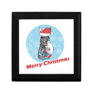 Zebra's Merry Christmas Gift Box