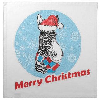 Zebra's Merry Christmas Napkin