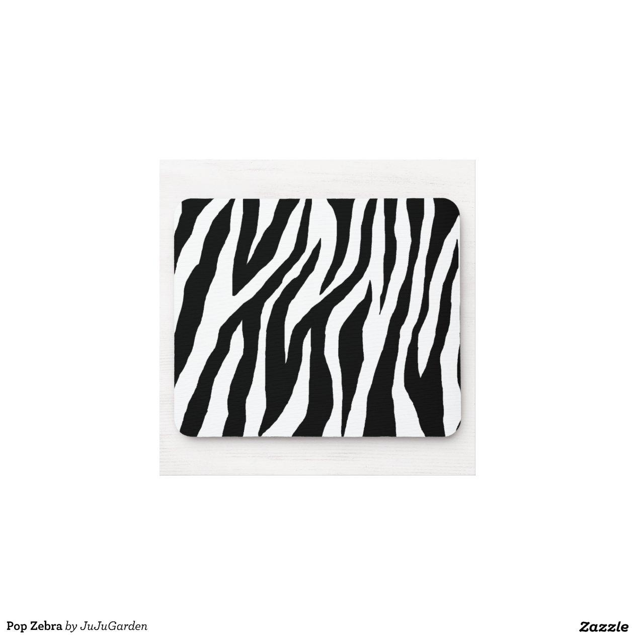 z bre noir et blanc sauvage tapis de souris zazzle. Black Bedroom Furniture Sets. Home Design Ideas