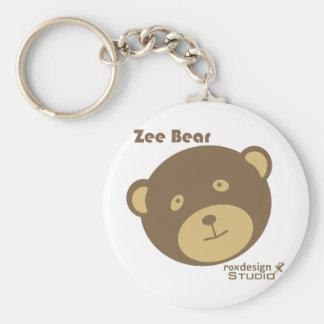Zee Bear Basic Round Button Keychain
