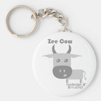 Zee Cow Basic Round Button Keychain