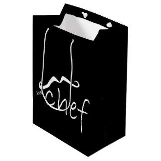 Zee French Chef Black MGB Medium Gift Bag