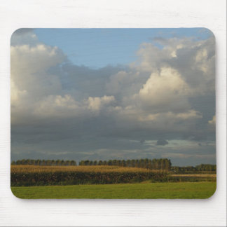Zeeland - Clouds above golden grain Mouse Pad