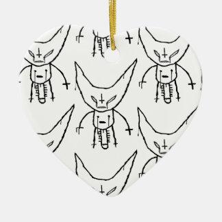 ZEF Devil Dik Ceramic Heart Ornament