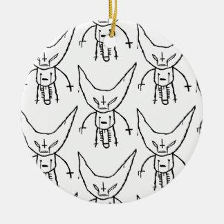 ZEF Devil Dik Round Ceramic Ornament