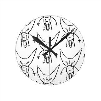 ZEF Devil Dik Round Clock