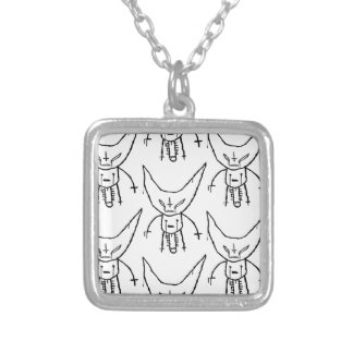 ZEF Devil Dik Silver Plated Necklace
