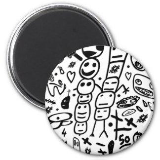 Zef Prawn 2 Inch Round Magnet