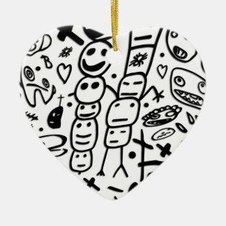 Zef Prawn Ceramic Heart Ornament