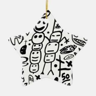 Zef Prawn Ceramic Star Ornament