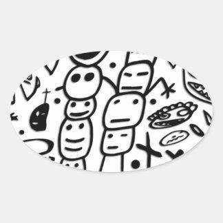 Zef Prawn Oval Sticker