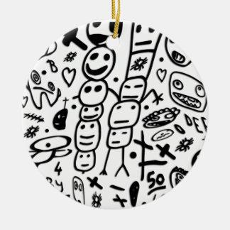 Zef Prawn Round Ceramic Ornament
