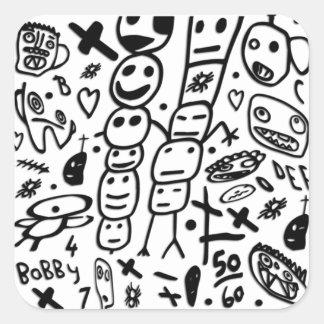 Zef Prawn Square Sticker