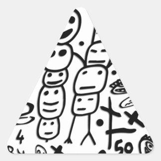 Zef Prawn Triangle Sticker