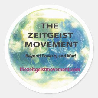 Zeitgeist Movement Round Sticker