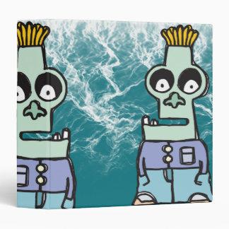 Zeke the Zombie Notebook Vinyl Binder