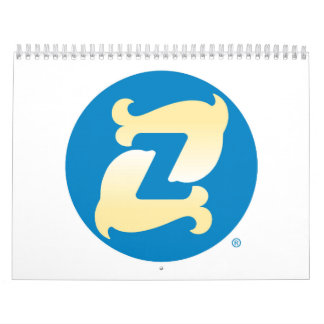Zelby Two Page, Medium, White Calendar