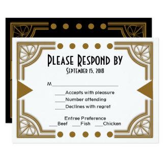 Zelda Art Deco RSVP Enclosure Card
