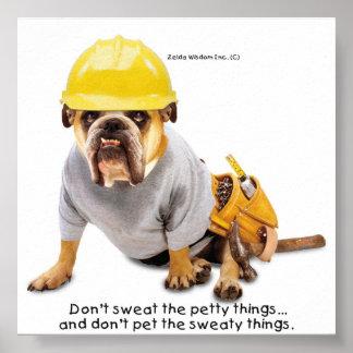 Zelda Construction Worker Poster