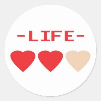 zelda hearts classic round sticker
