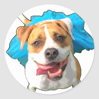 Zelda the Bulldog Classic Round Sticker