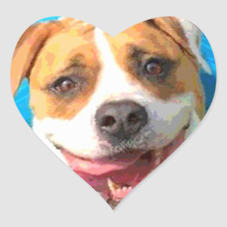 Zelda the Bulldog Heart Sticker