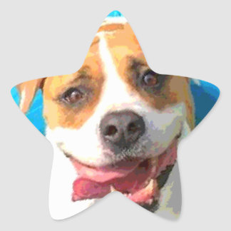 Zelda the Bulldog Star Sticker