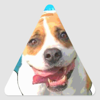 Zelda the Bulldog Triangle Sticker
