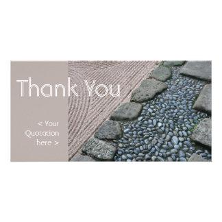 Zen & Abstract - Thank You - Photo Card
