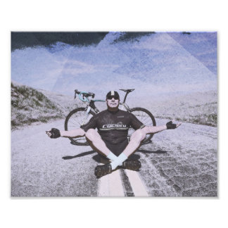 Zen and the art of cycling photo print