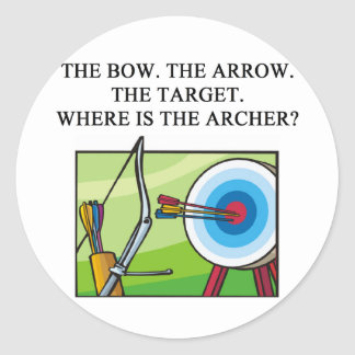 ZEN ARCHER CLASSIC ROUND STICKER