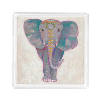 Zen Asian Elephant Acrylic Tray