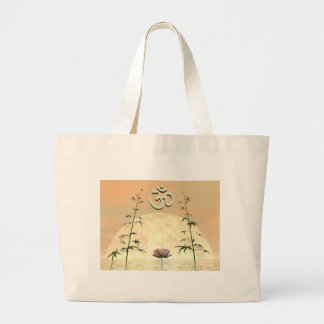 Zen aum - 3D render Large Tote Bag