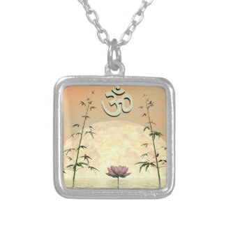 Zen aum - 3D render Silver Plated Necklace