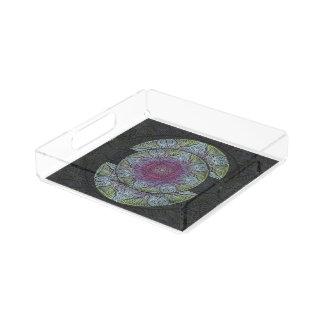 Zen Awakening, reiki, healing, chakra Acrylic Tray