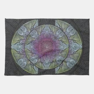Zen Awakening, reiki, healing, chakra Kitchen Towel