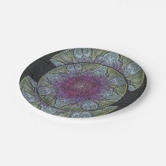 Zen Awakening, reiki, healing, chakra Paper Plate