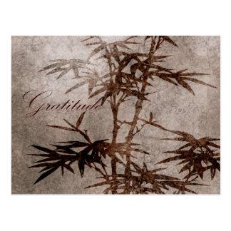 Zen Bamboo Gratitude Postcard