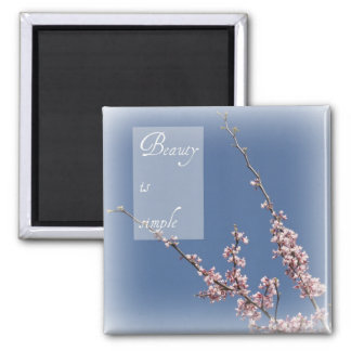 Zen- Beauty is Simple Cherry Blossom Magnet