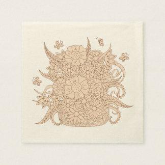 zen bouquet in the basket disposable napkins