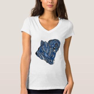 Zen Briard V-Neck - Blue T-Shirt