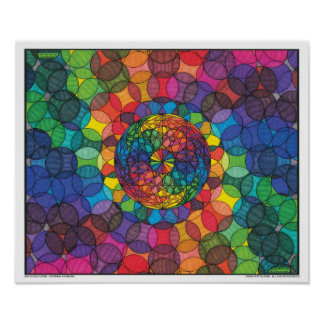 Zen Bubbleverse - Spinning Rainbows Poster